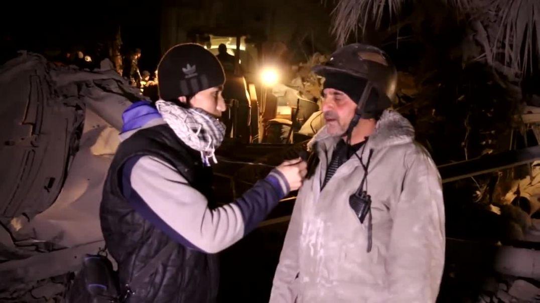 Фарук Шами Интервью у местного спасателя Идлиб
