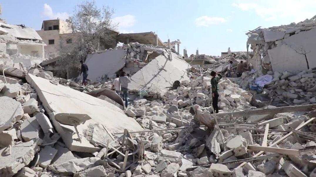 Фарук Шами Репортаж из города Арманаз после авиаударов ВКС РФ по мирным жителям