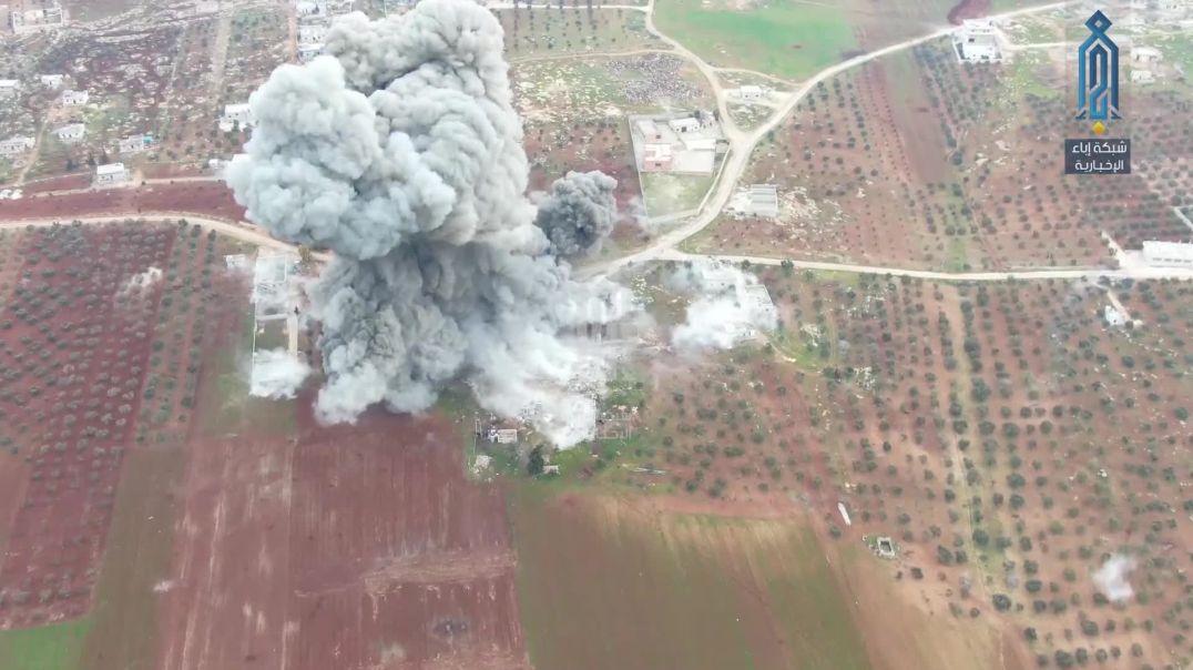 Момент исполнения операции истишхадия на западе Алеппо.
