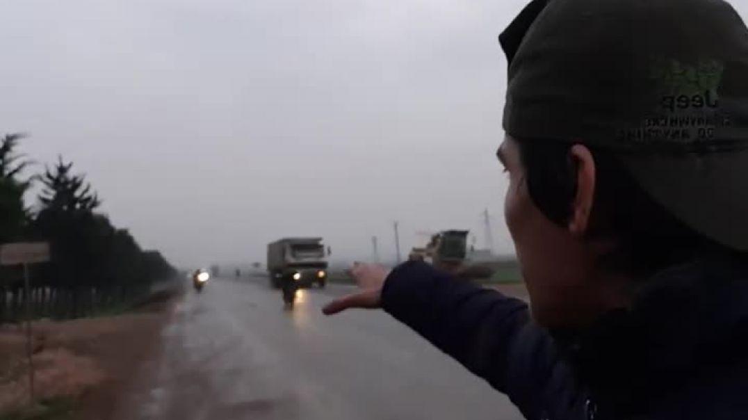 Репортаж с автострады Идлиба